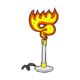 Comic cartoon bunsen burner Stock Image
