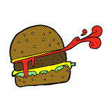 comic cartoon burger Royalty Free Stock Photos