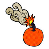 Comic cartoon burning bomb Royalty Free Stock Photography