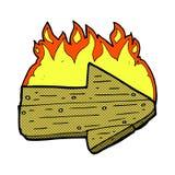 comic cartoon burning direction arrow Royalty Free Stock Photos