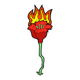 Comic cartoon burning flower Royalty Free Stock Photos