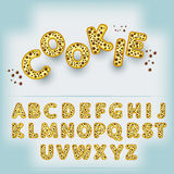 Comic cartoon candy style alphabet Royalty Free Stock Image