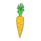 Comic cartoon carrot Royalty Free Stock Images