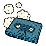 Comic cartoon cassette tape Stock Image