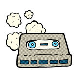 comic cartoon cassette tape Stock Images