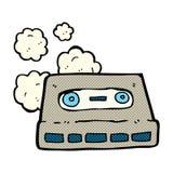 Comic cartoon cassette tape Stock Images