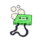 comic cartoon cassette tape Royalty Free Stock Images