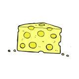 Comic cartoon cheese. Retro comic book style cartoon cheese Stock Image