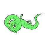 comic cartoon chinese dragon Stock Photo