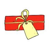 Comic cartoon christmas present. Retro comic book style cartoon christmas present Royalty Free Stock Photos