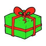 Comic cartoon christmas present Royalty Free Stock Photography