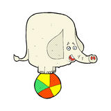 Comic cartoon circus elephant Stock Photo