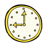 comic cartoon clock symbol Royalty Free Stock Images