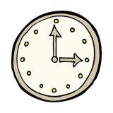 comic cartoon clock symbol Royalty Free Stock Photo