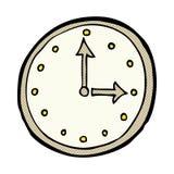 Comic cartoon clock symbol Royalty Free Stock Photo