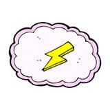 comic cartoon cloud and lightning bolt symbol Royalty Free Stock Photos