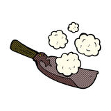 Comic cartoon coal shovel Royalty Free Stock Photo
