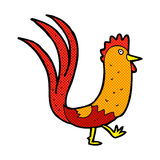 Comic cartoon cockerel Royalty Free Stock Photography