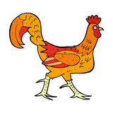 Comic cartoon cockerel Royalty Free Stock Photos