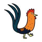 comic cartoon cockerel Stock Images