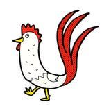 comic cartoon cockerel Stock Photo