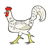 comic cartoon cockerel Stock Photos