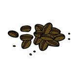Comic cartoon coffee beans. Retro comic book style cartoon coffee beans Stock Image