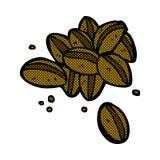 Comic cartoon coffee beans. Retro comic book style cartoon coffee beans Royalty Free Stock Photos