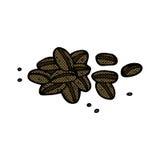 Comic cartoon coffee beans. Retro comic book style cartoon coffee beans Royalty Free Stock Images