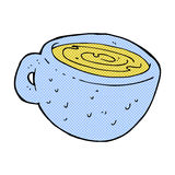 Comic cartoon coffee cup Stock Image