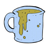 comic cartoon coffee mug Stock Images
