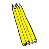 comic cartoon colored pencils Royalty Free Stock Photo