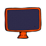 Comic cartoon computer screen. Retro comic book style cartoon computer screen Royalty Free Stock Photos