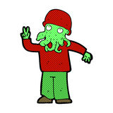 comic cartoon cool alien Royalty Free Stock Image