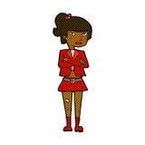 comic cartoon cool girl Royalty Free Stock Photos