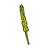 Comic cartoon corn Stock Image