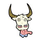 Comic cartoon cow face Stock Photography