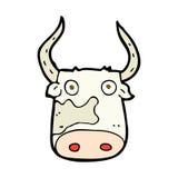 comic cartoon cow Stock Photography