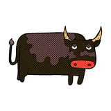 comic cartoon cow Royalty Free Stock Images