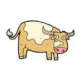 Comic cartoon cow. Retro comic book style cartoon cow Royalty Free Stock Photography