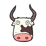 Comic cartoon cow Stock Photos