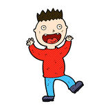 comic cartoon crazy happy man Royalty Free Stock Photography