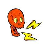 comic cartoon crazy skull Stock Image