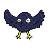 comic cartoon crow Stock Photo