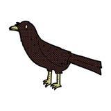 comic cartoon crow Royalty Free Stock Photo