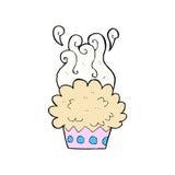 comic cartoon cup cake Royalty Free Stock Image