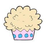 comic cartoon cup cake Stock Images