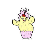 Comic cartoon cupcake monster Royalty Free Stock Photo