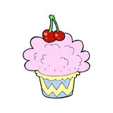 Comic cartoon cupcake Royalty Free Stock Photos
