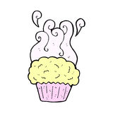 Comic cartoon cupcake Royalty Free Stock Image